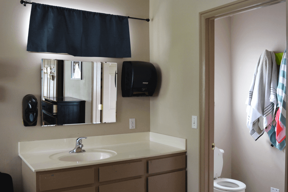 Bathroom in the Anthony House at New Haven Residential Treatment Center