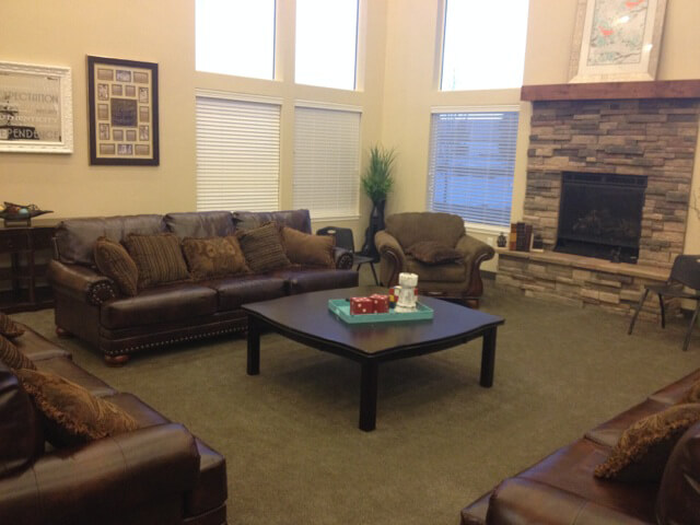 The Living Room at the Nightingale House at New Haven Residential Treatment Center