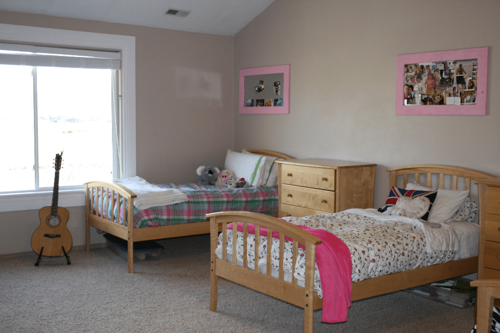A bedroom at the Parks House at New Haven Residential Treatment Center