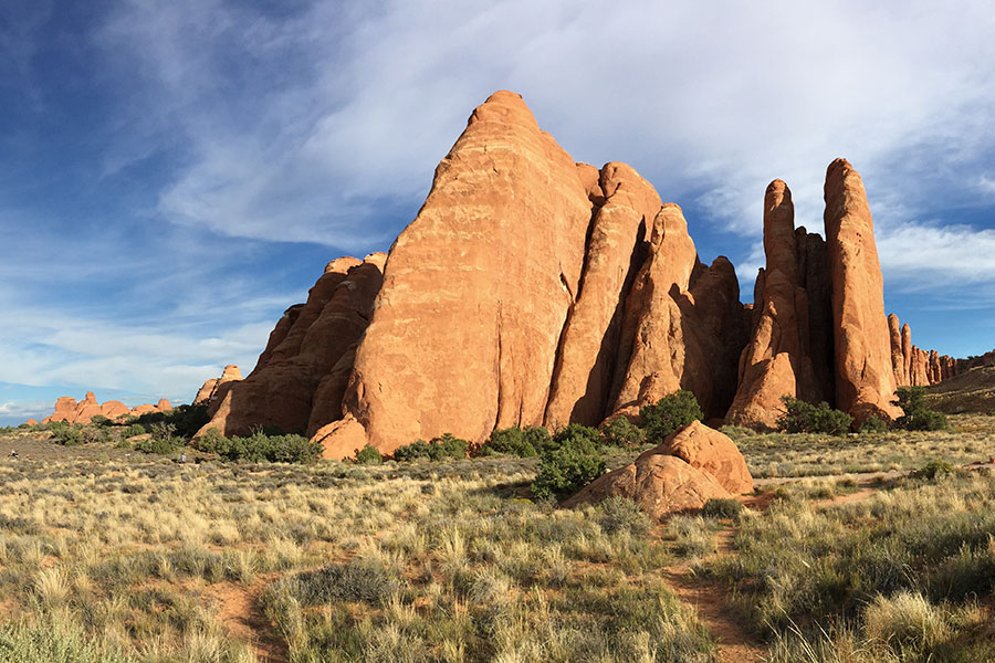 Scenery from New Haven Residential Treatment Center's Family Camping Trip to Moab.