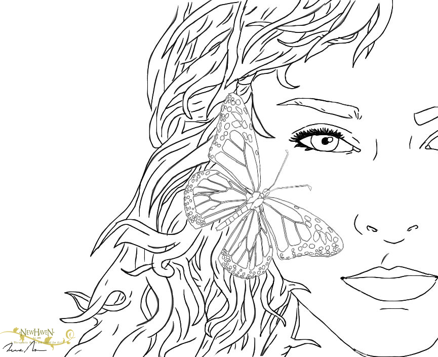 Brain Based Learning Coloring Page of a Butterfly | New Haven Residential Treatment Center