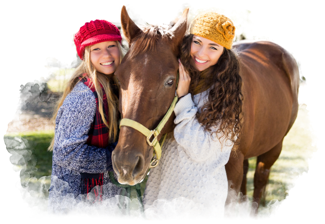 Girls and Horse